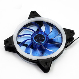 Cpu Fan 12v Pin NZ - Double Halo LED 120mm 12cm PC CPU Computer Case Cooling Neon Pretty Clear Fan Mod 4 Pin   3 Pin DC 12V Silent cooler