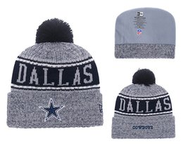 Knitted Cloche Australia - Men's Dallas Cowboys New Navy 2018 Sideline Cold Weather Official Sport TD Knit Hat 02