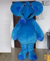 Factory Outlet Suits Australia - 2019 Factory Outlets happy blue elephant mascot costume suit for adults for sale
