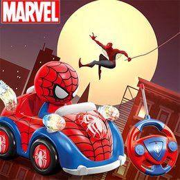 $enCountryForm.capitalKeyWord Australia - 1:26 Spiderman Fighter Marvel Action Figure Super Hero Music Lights Led Collectible Model Remote Control Car Juguetes Kids Auto Show Car Toy