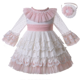 China Pettigirl New Arrival Spring Summer White Communion Princess Dress Wedding Flower Party Ceremony Layers Kids Girls Dresses G-DMGD112-C128 supplier wedding dress boat style suppliers