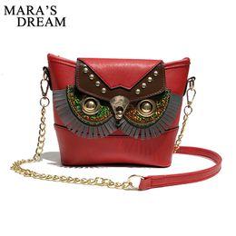 Owl Ladies Handbag Australia - Mara's Dream 2018 Brand Women Shoulder Bag Soft PU Leather Crossbody Bag Cartoon Owl Chain Messenger Ladies Small Handbags