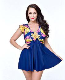 1f76f23daa5 Fat Women Bikini Set Plus Size Skirt Style One Piece Fashionable Skinny Swimsuit  Hot Spring Swimwear Summer Bathing Suit