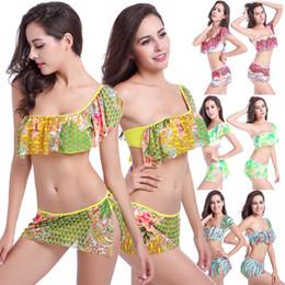 5c7583c5e5 Young girls swimwear online shopping - Mesh Layer Bathing Costumes Swimming  Suit Women One Shoulder Flounce