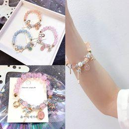 $enCountryForm.capitalKeyWord UK - Ins hot sale Unicorn girls bracelet crystal kids bracelet Boutique princess cuff Cartoon diamond children bracelet kids jewelry A7098