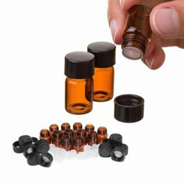 $enCountryForm.capitalKeyWord Australia - 2ML Amber Mini Glass Bottle, 2CC Brown Amber Sample Vial Small Essential Oil Bottle Factory Price BY DHL Free Shipping SN2137