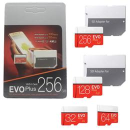 2019 hot 32 GB 64 GB 128 GB 256 GB Cartão SD EVO Plus Class10 UHS-1 boa MicroSDXC Cartão UHS Tablet PC Cartão TF Câmera Digital Smartphone