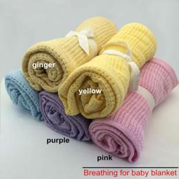 $enCountryForm.capitalKeyWord Australia - Banklet Receiving Blanket Solid Color Soft Organic Cotton Blankets Portable Durable Comfortable Baby Blanket