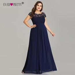 $enCountryForm.capitalKeyWord Australia - Long Prom Dresses Ever Pretty Ep09993 2019 Dark Green Plus Size Lace Appliques O-neck A-line Navy Blue Ladies Formal Party Dress J190629