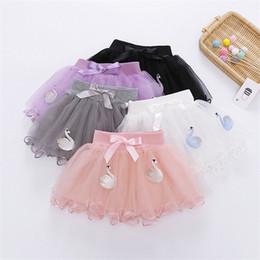 $enCountryForm.capitalKeyWord Australia - INS Designs Little Girls Summer Swan Embroidery Skirt Short Dance Skirt Baby Girls Bow Tie Tutu Skirts Princess Party Wear Child Clothing