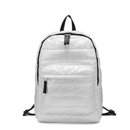 $enCountryForm.capitalKeyWord UK - Women Backpack Space Down Cotton Fashion Backpack For Travel School Bags For Girls Teenagers And Ladies Special Down Material