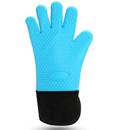 $enCountryForm.capitalKeyWord NZ - Bag-top food grade silica gel heat insulating gloves oven baking anti-ironing gloves lengthened cotton resistant high-temperature microwave
