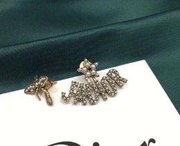 Wholesale 2020 new fashion earrings women letter Earrings free shipping 022214