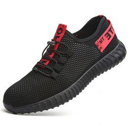 $enCountryForm.capitalKeyWord Australia - 2019 summer flood control perforation work sandals breathable safety shoes men's thin single mesh sports shoes 35-45MX190907