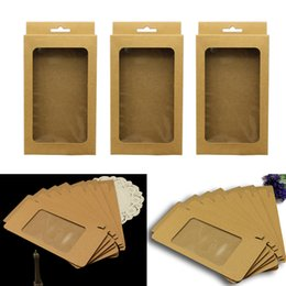 $enCountryForm.capitalKeyWord Australia - 10pcs set Packing Box With Clear Window Wedding Decoration Jewelry Wrapping Brown Paper Nursuing Storage Solid Baby Gift