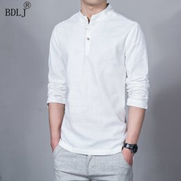 $enCountryForm.capitalKeyWord Australia - Bdlj Fashion Long Sleeve Men's Shirt Men's Casual Flax Shirt Men's Brand Plus Size Asian Size Camisas Free Shipping