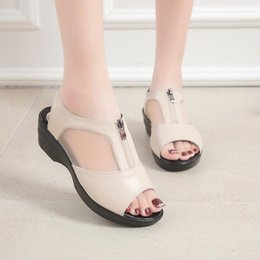 $enCountryForm.capitalKeyWord NZ - COOTELILI Leather Wedges Sandals Women Platform Summer Shoes For Woman Casual Open Toe Sandlen Women Shoes Sandalias Mujer