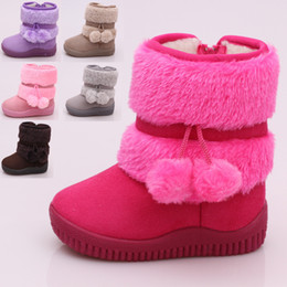 df158243 Zapatos infantiles para bebés Venta caliente Invierno Niños Botas de  algodón medianas Niños espesar Mantener el calor Botas para la nieve a  prueba de agua ...