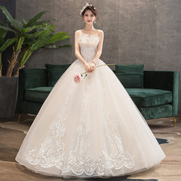 modern dress patterns free UK - FREE SHIPPING!New STRAPLESS UNREGULAR FRONT FLORAL PATTERN SEQUINS LACE UP FLOOR LENGTH WEDDING DRESS DHL FAST DELIVERY