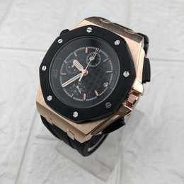 Wholesale 2019 New High Quality Royal Rubber Strap Small dial Work Men s Watches Fashion Brand Watch For Man Casual Sports Wristwatches Reloj Hombre