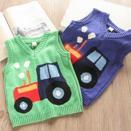 $enCountryForm.capitalKeyWord NZ - 2color Cartoon boys waistcoat kids designer clothes boys sweater 2019 new Autumn Winter kids waistcoat Vest boys designer clothes A7053