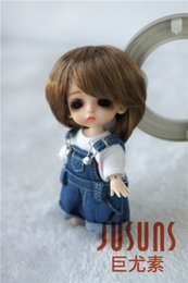 White Shorts Australia - Jusuns 3-4inch Doll Wig Short Cut Synthetic Mohair Doll Wigs for Lati White 8 Colors for Option JD081