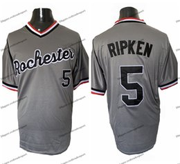 Cheap red wing jerseys online shopping - Cheap Mens Cal Ripken Jr Rochester Red Wings Gray Baseball Baseball Jerseys Black Grey White Stitched Baseball Shirts M XXXL