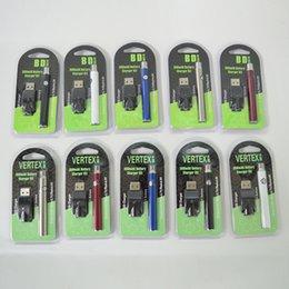 Опт Аккумулятор Vape VERTEX 350 мАч VV Подогреватель аккумулятора 510 Нить Переменное напряжение Ручка Электронные сигареты Батареи Упаковка для масляных картриджей