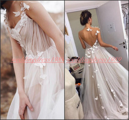 Red lace bodice online shopping - Elegant Country Backless Beach Wedding Dresses With Butterfly A Line Garden Tulle Arabic Wedding Gowns For Bride African Plus Size Ball