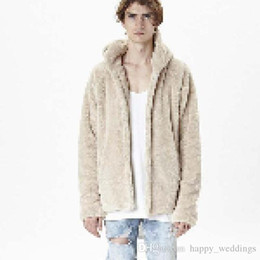 urban swag clothes Australia - Sherpa hoodie streetwear cool kanye west clothing fashion hip hop skateboard urban clothes swag Men hoodies Hooded Cardigan