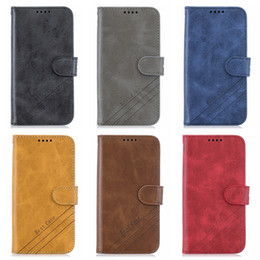 samsung note 10 plus flip case Canada - Retro PU Leather Wallet Case For Samsung Note 10 Pro S10 Plus S10E A90 A70 A60 A50 A30 Luxury Fashion Case Flip Cover Holder ID Card Pouch