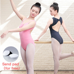 sexy ballet dancing NZ - Adult Women V-neck Sleeveless Ballet Dance Leotard Ladies Sexy Open Back Bodysuit Gymnastics Dance Wear