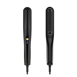 wholesale trending products Australia - MB-S01 Hair Straighteners Trending Products New Arrivals 2 in 1 Mini Beard Wireless Hair Brush Straightener