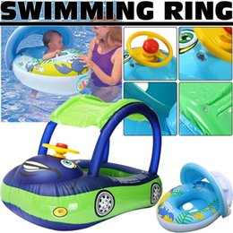 $enCountryForm.capitalKeyWord NZ - High Quality Safety Steering Wheel Sunshade Baby Infant Swimming Float Inflatable Adjustable Sunshade Seat Boat Ring Swim Pool