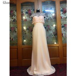 $enCountryForm.capitalKeyWord NZ - Ghand Cheap JJShouse A-Line Lace Chiffon High-Neck Court Train Tow Piece Suit Wedding Guest Formal Gowns Plus Bridesmaid Dresses Custom Size
