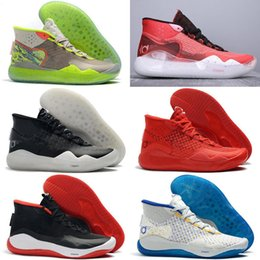 shoes new zoom kd Australia - 2019 New Boys Kevin Durant KD 12 12S KD12 XII Trainers Zoom Youth Girls Women Outdoor Shoes X Elite Mid Sport Sneakers
