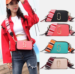 $enCountryForm.capitalKeyWord Australia - Designer-WDPOLO Fashion Brand Design New Camera Handbags Split Leather Women Color Combined Strap Shoulder Bags Chic Women Bag Q0214