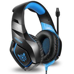 ONIKUMA K1S Jogo Headset Headband Over-ear fone de ouvido estéreo para PS4 Xbox One Nintendo Switch PlayStation 4 / PC Computador / Laptop / Sm