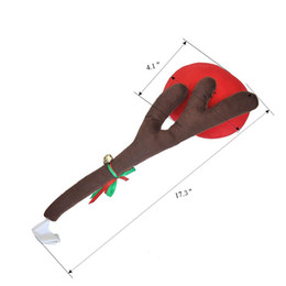 $enCountryForm.capitalKeyWord NZ - 3pcs Christmas Vehicle Car Decorations Reindeer Antler Costume Kit Red nose with Jingle Bell