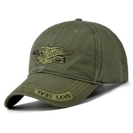 $enCountryForm.capitalKeyWord NZ - New Men Navy Seal Cap Top Quality Army green Snapback Caps Fishing Hat Camo Baseball Caps Adjustable Bone