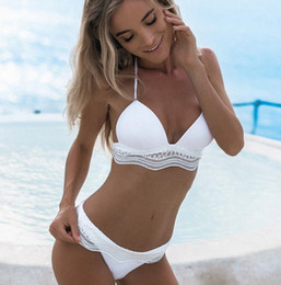 cb620f9e81e6e Hot Solid Bikinis 2017 Sexy Swimsuit Women Swimwear Thong Bikini Set Push  Up Bathing Suit Beach lace biquini