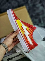 Black White Red Canvas Prints Australia - Hot-selling revenge X storm old Skool canvas designer men's and women's low-cut skateboard yellow red blue white black casual shoes