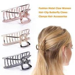 Butterfly Fashion Hair Clip Australia - Fashion Metal Claw Women Hair Clip Butterfly Clamps Hairpin Headwear Hairdressing Supplies Barber Hair Clip