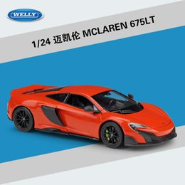 welly toys 2020 - WELLY Diecast Alloy MCLAREN 675LT Car Model Toy, Sports Car& Roadster, 1:24 Scale Ornament, Christmas Kid Birthday Boy G