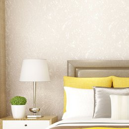 Roll White Paper Australia - New Arrivals Modern Solid Color Wallpapers Roll Non-woven White Wallpaper 3d Embossed Wall Paper Living Room Decor Qz052