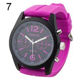 $enCountryForm.capitalKeyWord Australia - Popular Black Dial Silicone Band Geneva Analog Quartz Women Men Dress Wrist 2015 Watches No181 5v1o