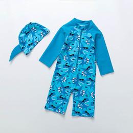 9a4406575dfc7 Baby sharks Kids Swimwear boys Swimwear Cartoon Kids Bathing Suits boys  Swim Suits Child Sets Beachwear kids swim vest One-piece+hat A4161