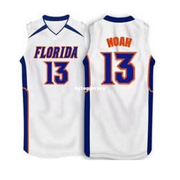 0c293ef23 #13 Joakim Noah Florida Gators White blue Basketball Jersey All Size  Embroidery Stitched Customize any name and name XS-6XL vest Jerseys NCA