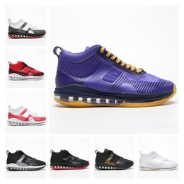 Pink Grey Basketball Shoes Australia - Icon QS Basketball Shoes Men Purple White Black Red Grey Pink Mens Trainers Sports Shoes Luxury Designer Sneakers with box Size 40-46