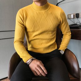 Branded Men Sweater NZ - Spring and Autumn Men Sweater Brand New Slim Fit Geometric Pattern Pullover Sweater Men's Clothing 2019 Fashion Knitwear M-3XL